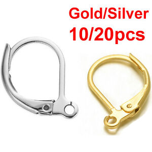 Earrings Silver Gold Hypoallergenic Lever Back Leverback Ear Hooks Clasp Finding