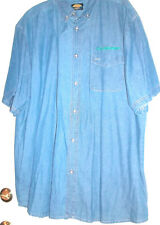 New Size 3XL Blue Denim Sandy River Jeans Company Green Studebaker Embroidery