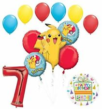 Pokemon 7th Birthday Party Supplies and Balloon Bouquet Decorations