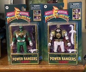 Mighty Morphin Power Rangers Retro Tommy White & Green Ranger Flip-head Figure