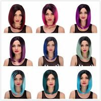 Chic womens ladies BOB cosplay party short Straight hair nature wig Wigs 9 color