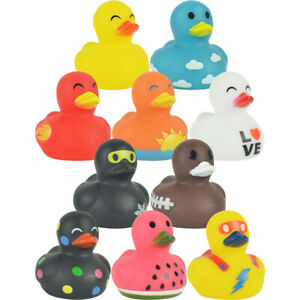"""100 Rubber Duck Ducklings 1.5"""" Mini Ducks Fun Toy Collection #1 Prize Gift Bag"""