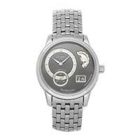 Glashutte Original PanoMaticLunar Auto 40mm Steel Mens Bracelet Watch 90-02-24