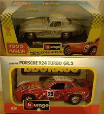 Burago Porsche924turbo scala1:24/5 MercedesBenz 300SL1954,1000M 2pz.
