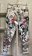 ITALY Hose Jogger Jogpants Röhrenhose Print Stretch Taschen Gr. 38 40 42