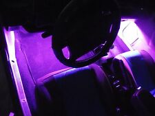 4Pc Pink/Purple Neon Interior, Underdash Lighting Kit with Remote & Effects!