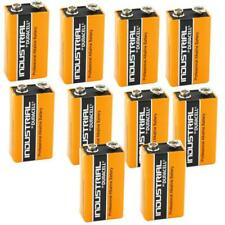 10X Duracell Industrial 9V PP3 Block Alkaline Batteries MN1604 Replaces Procell