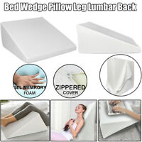 Bed Wedge Pillow Foam Body Positioner Elevate support Back Neck Pain Leg Rest AK