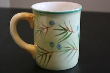 BELLA CERAMICA Coffee Cup Mug Pine Needles Berries