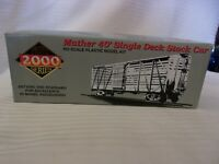 HO Scale Proto 2000 Mather 40' Single Deck Stock Car Great Northern, Red, #55057