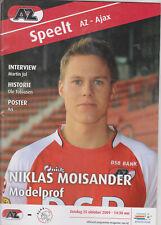 Programme / Programma AZ Alkmaar v Ajax Amsterdam 25-10-2009