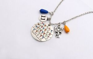 Stranger Things Alphabet Light Wall Pendant Necklace Demogorgon Charm Gift 11