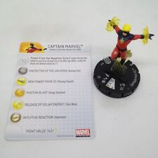 Heroclix Galactic Guardians set Captain Marvel #031 Rare figure w/card!
