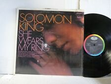 """EXC PLUS PROMO IN SHRINK SOLOMON KING """"SHE WEARS MY RING"""" LP      MORE LPs  N"""