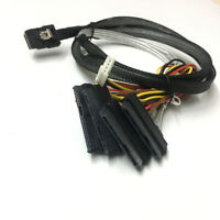 Mini SAS 36 Pin SFF-8087 to 4x SAS/SFF-8482 with 1 Power HDD Cable 3FT 1M