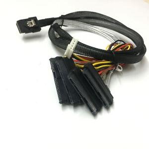 Mini SAS 36 Pin SFF-8087 to 4x SAS/SFF-8482 MINI 4 pin 1 Power HDD Cable 3FT 1M