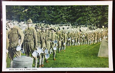 1920's Postcard Life In U. S. Army Cantonment Mess Time Lunchtime