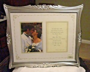 "Burns Wall Table 15 X 13"" SilverPlated Wedding Invitation Frame for Photo & Card"