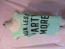 VICTORIA'S SECRET ~ PINK ~ SHIRT ~ RUN LESS PARTY MORE ~ TANK TOP ~ SMALL ~ NEW