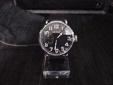 Parnis Pilot Aviator Watch 6498 Hand Winding Mechanical Sub SecondOnion Crown