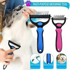 Dog Pet DEMAT Tool Cat Comb Brush Grooming Kit Undercoat Rake Demat Hair Tool UK