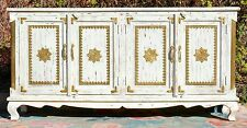 White Shabby Chic French Country Brass Fitted Sideboard Storage Buffet