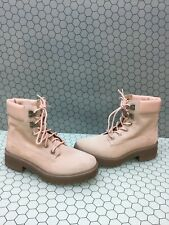 Timberland CARNABY 6 Inch Pink Suede Lace Up Ankle Boots Women's Size 7