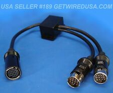 13-PIN Y ADAPTER SPLITTER 2 MALE 1 FEMALE CABLE ROLAND PLANET WAVES US SELLER