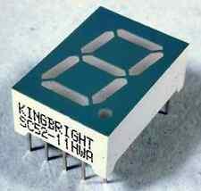 Kingbright Sc52-11hwa Display LED catodo Comune Singolo a 7 segmenti Rosso