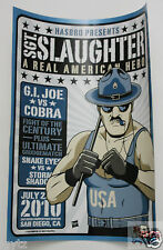 SGT Slaughter G.I JOE vs COBRA SDCC 2010 Hasbro G.I JOE Exclusive 9 x 12 Poster