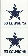 DALLAS COWBOYS NFL Football Scrapbook Stickers