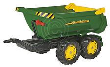Rolly Toys - Grande John Deere Verde Halfpipe Remolque para Tractores