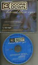 THREE DOORS DOWN Behind Those Eyes w/RARE RADIO EDIT PROMO DJ CD Single 2005 USA