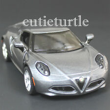 Kinsmart 2013 Alfa Romeo 4C 1:32 Diecast Toy Car Grey