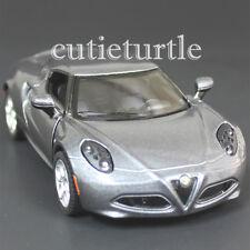 Kinsmart 2013 Alfa Romeo 4C 1:32 Diecast Toy Car Grey