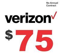 Verizon $75 True Unlimited Data Plan with Hotspot
