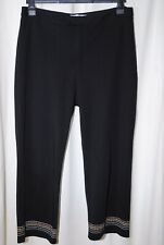 NEW YORK Ladies Black 3/4 Length Trousers Uk Size 14