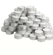 Tea Light Candles 200 Pack White Unscented 4 Hours Burn Travel Candle