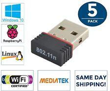 5x LOT MediaTek Mini USB WiFi Wireless Network Adapter 802.11 for HP Dell Lenovo
