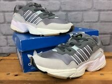 ADIDAS MENS UK 7 EU 40 2/3 YUNG 96 GREY WHITE BLUE TRAINERS RRP £85 LG