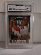 2011 Bowman Chrome Bryce Harper Sliver Refractor Exclusive R GMA Grade Gem mt 10