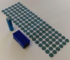 108 pc Pre-Cut 18650 Insulator and ELECTRIC BLUE PVC Heat Shrink Wrap Vape ebike