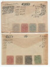Collection of Transvaal stamps, identified, in glassines. 2021 Scott=$101.75