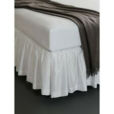 Sferra Celeste Cotton Percale Gathered Bed Skirt In Set Of 3 Panels