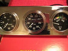 """Vintage NOS Stewart Warner Deluxe Series 2 1/16"""" Gauges MADE IN U.S.A. 72"""" Cap"""