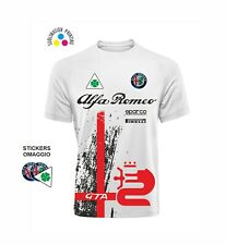 T-shirt DRY FIT - ALFA ROMEO REPLICA SUPERSPORT Rally auto sport + 3 Stickers