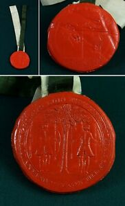 ORIGINAL 19thC Royal Company of ARCHERS wax SEAL scotland 'queen's body guard'
