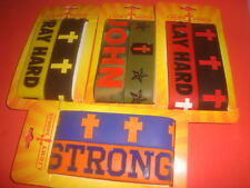 #8 Eight CHRISTIAN Silicone Rubber Bracelets-Wristbands  JOHN 3:16 & PHIL. 4:13