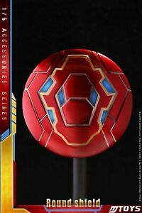 MTOYS 1/6 Avengers 3 Iron Man MK50 Round Shield MS001 fit 12inches Figure Model