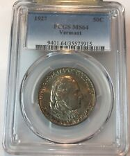 1927 Vermont   half dollar , pcgs MS64
